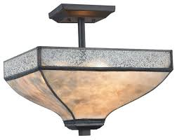 santa fe 3 light semi flush tiffany bronze transitional flush mount ceiling lighting by 1stoplighting