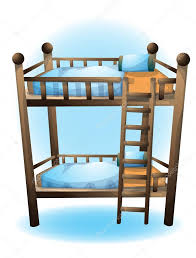 cartoon vector illustration bunk bed object Stock Vector
