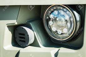 Parking Lights Car Headlights And Parking Lights Of A Truck Auto Armored Car Or