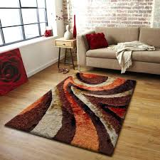brown orange and ivory rugs for minimalist living room decor idea fabulous your red decorating ideas area black grey w