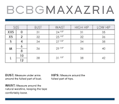 Bcbg Dress Size Chart Related Keywords Suggestions Bcbg