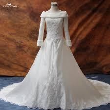 Rsw174 Long Sleeve Winter Wedding Dresses Fur In Wedding Dresses