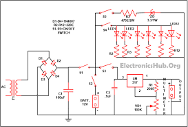 automatic led emergency light circuit using ldr circuit diagram mobile phone battery charger circuit