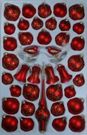 Sortiment Mit Klingenden Glocken Rot Matt Ranken 39 Teile Christbaumschmuck Weihnachtsschmuck Mundgeblasenhanddekoriert Lauschaer Glas Das Original