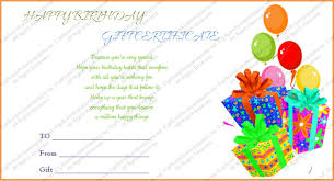 Printable Gift Certificates Templates Free Extraordinary Birthday Certificate Status Printable Birthday Certificates