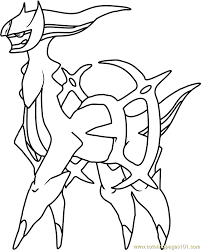 Small Picture Arceus Pokemon Coloring Page Free Pokmon Coloring Pages