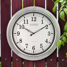 18 in galvanized indoor outdoor atomic og wall clock