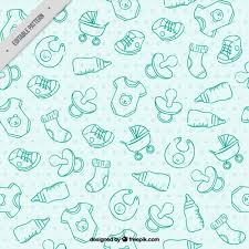 Baby Patterns Simple Blue Baby Pattern Vector Free Download