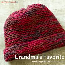 Easy Knit Hat Pattern Straight Needles Simple Grandma's Favorite Knit Garter Stitch Hat Pattern Stitch And Unwind
