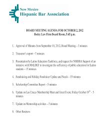 Meet And Greet Meeting Agenda New Mexico Hispanic Bar Association Board Meeting On