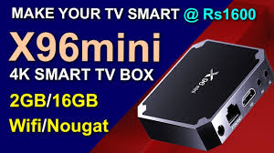 X96 mini SMART ANDROID TV BOX 2GB 16GB FULL REVIEW AND UNBOXING WITH  CONNECTION GUIDE IN HINDI - YouTube