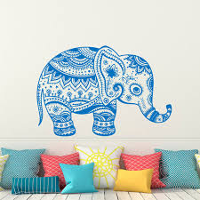 Small Picture Indian Elephant Wall Decal Stickers Elephant Yoga Wall Decals