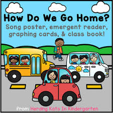 How We Get Home Chart How Do We Get Home Chart Emergent Reader Song Graph More