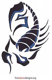Blue tribal <b>scorpion</b> tattoo <b>design</b>
