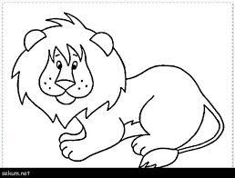 Safari Animals Template Coloring Pages Jungle Animals Safari Animal Clipart Black