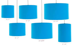 drum cylinder lamp shades peacock blue lampshade .
