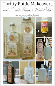thrifty bottle makeovers decoupage and chalk paint artsy rule
