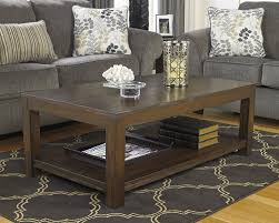 wood coffee table set. Amazon.com: Ashley Furniture Signature Design - Grinlyn Coffee Table Cocktail Height With Lower Shelf Rectangular Rustic Brown: Kitchen \u0026 Dining Wood Set