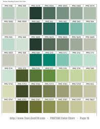 Pantone Green Color Chart Pantone Color Chart Pms Screen Printing Very Good