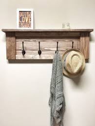 Wooden Coat Rack Wall Mounted Shelf Rustic wood coat rack wall mount with 100 coat hooks entryway 71