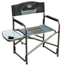 com timber ridge aluminum portable director s folding chair with side table supports 300lbs sports outdoors