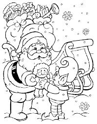 Kerstmis Kleurplaat Kerstman Met Elfje