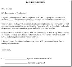 Sample Dismissal Letter 28 Samples Of Termination Letter Templates Formats
