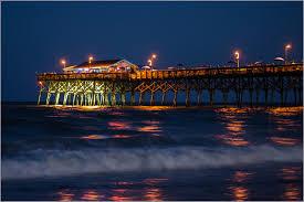 garden city sc. City Beach Night Garden Pier Nikon Long Exposure Time South Carolina Nikkor 1755mm D7000 Sc E