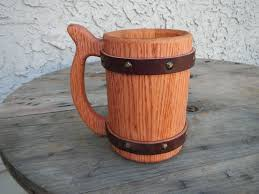 picture of 42oz wooden beer mug