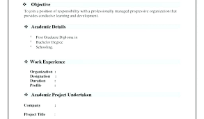 Resume Model New Models Of Resumes Model Model Of Resume For Job Application