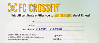 Personal Training Gift Certificate Template FITNESS CROSSING 'Tis The Season To Give The Gift Of CrossFit 14