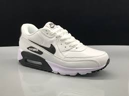relaxed nike air max 90 leather white black women s men s running shoes