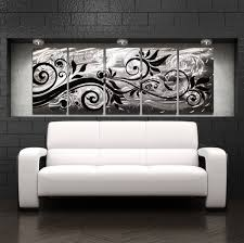black wall art piece rectangle black white fl pattern contemporary attractive lovely black metal wall decor