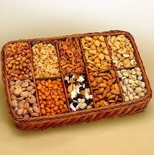 snackers delight gift tray dried fruits and nuts gift basket