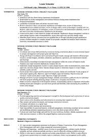 Sample Resume Construction Project Manager Sample Resume For Construction Project Manager Resume Sample