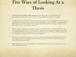 argument writing the thesis statement and five parts of a  2 five