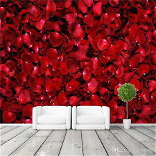 room elegant wallpaper bedroom: romantic rose petals wall mural customize canvas photo wallpaper elegant room decor anniversary gift nursery living room bedroom hallway vintage wallpaper