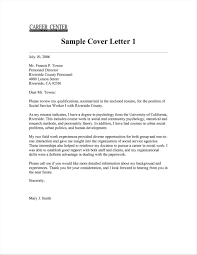 Sample Worker With Examples Resume A Social Cover Letter For