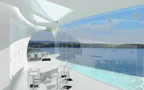 The Dream house Mahina (means moon) was designed by Weber Consulting  and as its name suggests, has the form of a crescent. As the location of t