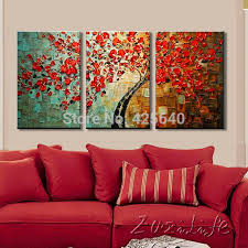canvas tree painting 3 pieces canvas palette knife 3d texture painting wall art pictures for living