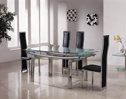 extending glass dining table and chairs. astonishing extending glass dining table and 6 chairs 79 in old room with b