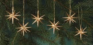 Christbaumschmuck Aus Holz Gold Kleine Weihnachtssterne 6 Teilig Von Albin Preißler