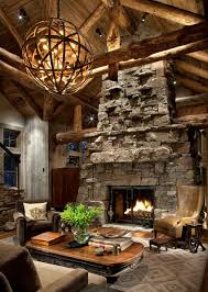 Great Room Fireplace rustic-living-room
