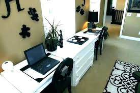 double desks for home office. Dual Office Desk Double Home Desks For Monitor
