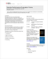 60+ Performance Evaluation Forms Templates Free Samples, Pdf Format