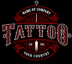 Vintage Tattoo Studio Emblem4 For Dark Background Download Free