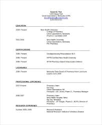 Pharmacists Resumes Pharmacist Resume Template 6 Free Word Pdf Document Downloads