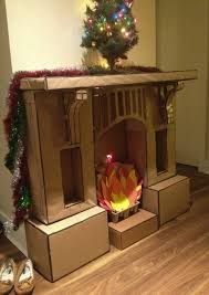 exquisite ideas fake fireplace for cardboard fireplace pinning for the next time we need