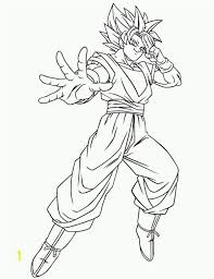 Goku Super Saiyan 1 Coloring Pages Dragon Ball Z Goku Using Instant