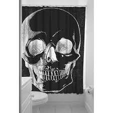black shower curtains. SOURPUSS ANATOMICAL SKULL BLACK SHOWER CURTAIN Black Shower Curtains N